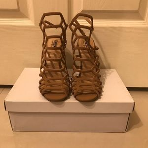 Mossimo cage heeled sandal size 6